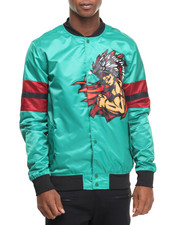 Light Jackets - B P Natives Nylon Team Bomber Jacket