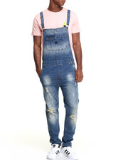 Jeans & Pants - B P Distressed Denim Overalls