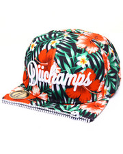 Men - BARBADOS FLOWER -PRINT ZIPPER - FRONT SNAPBACK HAT