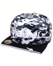 Men - WHITE DUKE CAMO ZIPPER - FRONT SNAPBACK HAT
