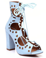 Women - Fly Like A Dove Cutout & Laceup Heel