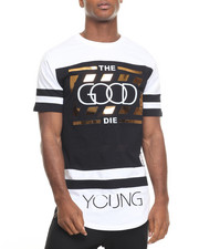 Buyers Picks - Gold Stripe Good Die Young Tee