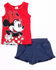 Girls - 2 PC SET - MINNIE TANK & SHORTS (2T-4T)