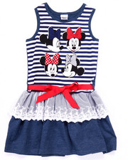 Sizes 4-6x - Kids - STRIPED MINNIE RUFFLE DRESS (4-6X)