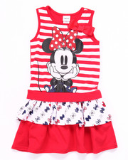 Girls - STRIPED MINNIE RUFFLE DRESS (2T-4T)