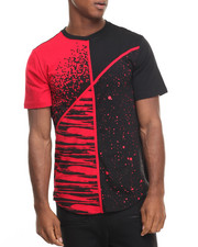 Men - Mix Print Scallop Tee