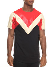 Men - Double V Paneled S/S Tee