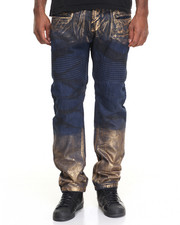 Men - Night Foil Moto - Style Denim Jeans