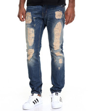 Men - Vintage Rip - And Repair Denim Jeans