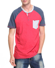 Men - Colorblock Henley