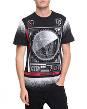 Men - Radar Print Scallop Tee