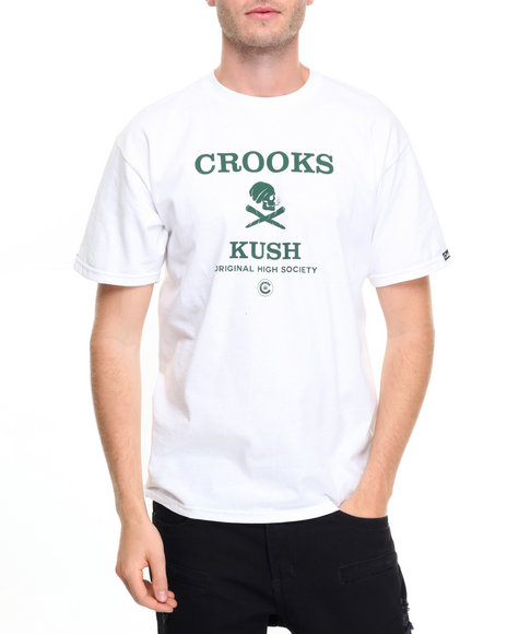 Crooks & Castles Men Original Life T-Shirt White Medium