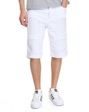 Men - Ribbed Panel & Patch Twill Short