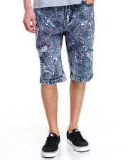 Men - Splatter Denim Short