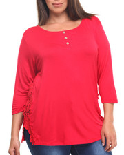 Women - Top w/ 3/4 Sleeve and Lace Detail (Plus)