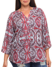 Tops - Paisley Peasant Top (Plus)