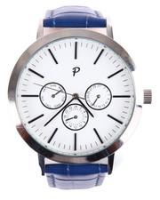 Jewelry & Watches - Greystone Timepiece (Blue & Silver)