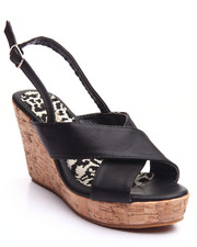Fashion Lab - Cork Heel Platform Sandal
