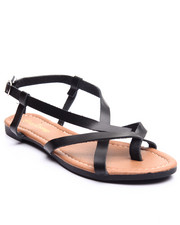 Footwear - Intertwined Vegan Leather Sandal
