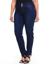 Women - Denim Stretch Jean w/ 3 Button (Plus)