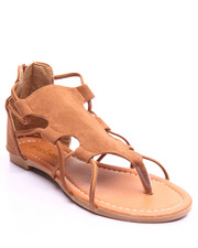 Sandals - All Faux Suede Grecian Sandal