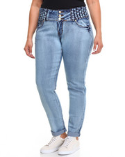 Plus Size - Denim Stretch Jean w/ 3 Button (Plus)