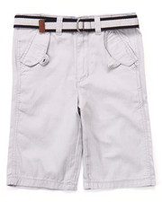 Sizes 8-20 - Big Kids - BELTED HERRINGBONE TWILL SHORTS (8-20)