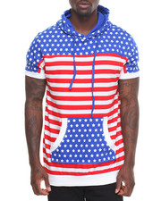 Men - Stars and Stripe S/S Hoodie