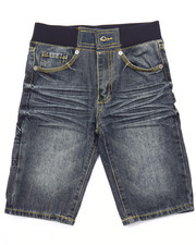 Boys - DENIM SHORTS W/ RIBBED WAIST (8-20)