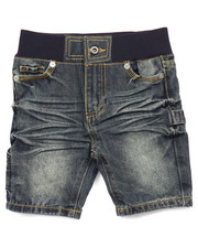 Boys - DENIM SHORTS W/ RIBBED WAIST (2T-4T)