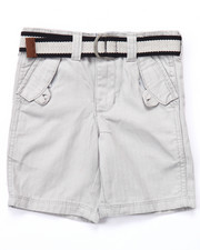 Sizes 2T-4T - Toddler - BELTED HERRINGBONE TWILL SHORTS (2T-4T)