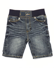 Boys - DENIM SHORTS W/ RIBBED WAIST (4-7)