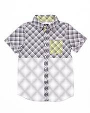 Button-downs - S/S SHATTERED WOVEN (8-20)