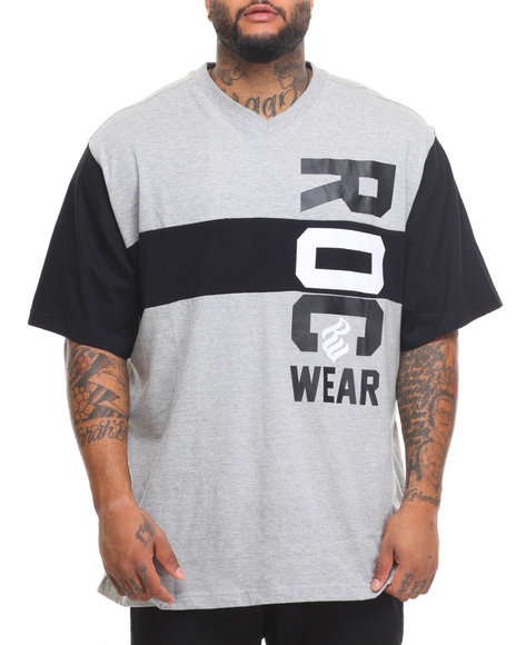 Rocawear Men Roc Marquis S/S Knit Tee Grey 4XLB