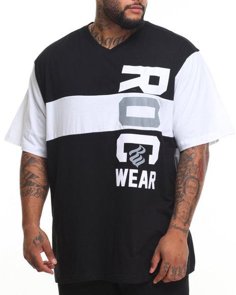 Rocawear Men Roc Marquis S/S Knit Tee Black 5XLB