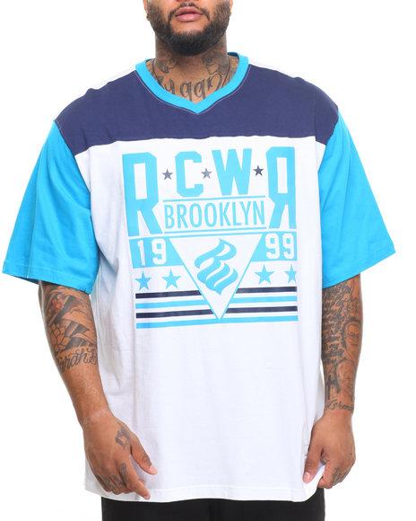 Rocawear Men Roc & Rumble S/S Crew Tee (B&T) White 5XLB