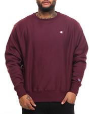 Pullover Sweatshirts - Reverse Weave Crewneck Sweatshirt