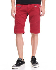Buyers Picks - Biker Twill Shorts w Zipper