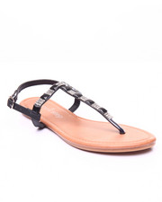 Sandals - Crystal Jeweled Thong Sandal