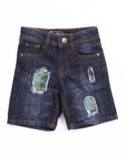 Boys - DISTRESSED AMERICANA DENIM SHORTS (2T-4T)