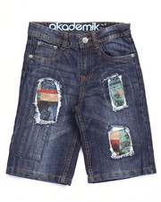 Boys - DISTRESSED AMERICANA DENIM SHORTS (8-20)