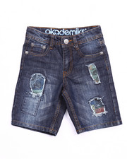 Boys - DISTRESSED AMERICANA DENIM SHORTS (4-7)
