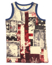 Sizes 8-20 - Big Kids - AMERICANA PATCHWORK TANK (8-20)