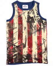 Sizes 8-20 - Big Kids - AMERICANA FLAG TANK (8-20)