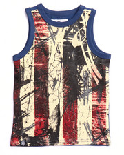 Sizes 2T-4T - Toddler - AMERICANA FLAG TANK (2T-4T)