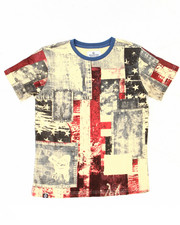 Sizes 8-20 - Big Kids - AMERICANA PATCHWORK TEE (8-20)