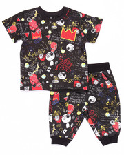 Boys - 2 PC GRAFFITI TEE & CAPRI JOGGERS (2T-4T)