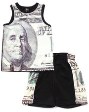 Boys - 2 PC MO MONEY TANK & SHORTS SET (4-7)