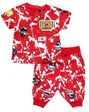 Boys - 2 PC GRAFFITI TEE & CAPRI JOGGERS (INFANT)