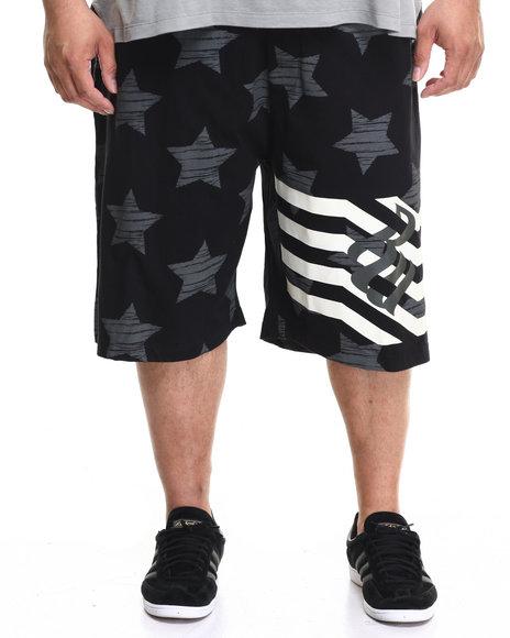 Rocawear Men Cross Over Shorts (B&T) Black 5XLB
